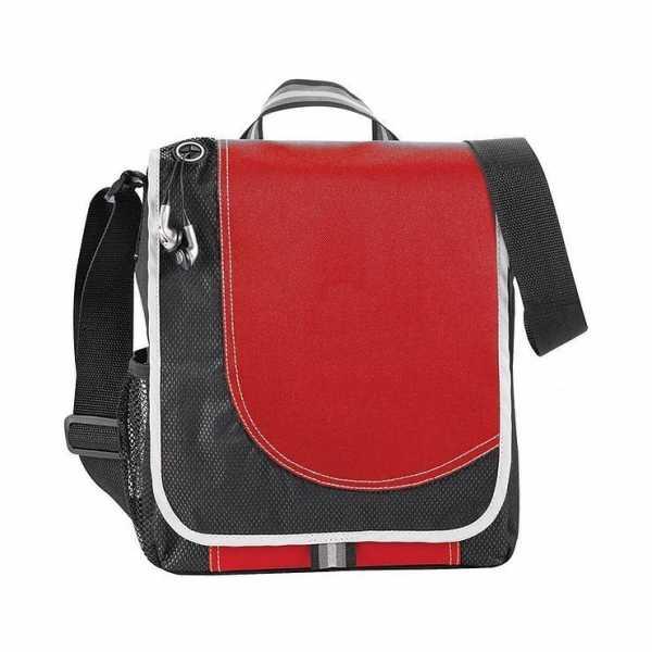 Boomerang Conference Satchel Messenger Bag 5056RD Black Red