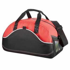 Boomerang Duffel Sports Bag 5147BK Black Red