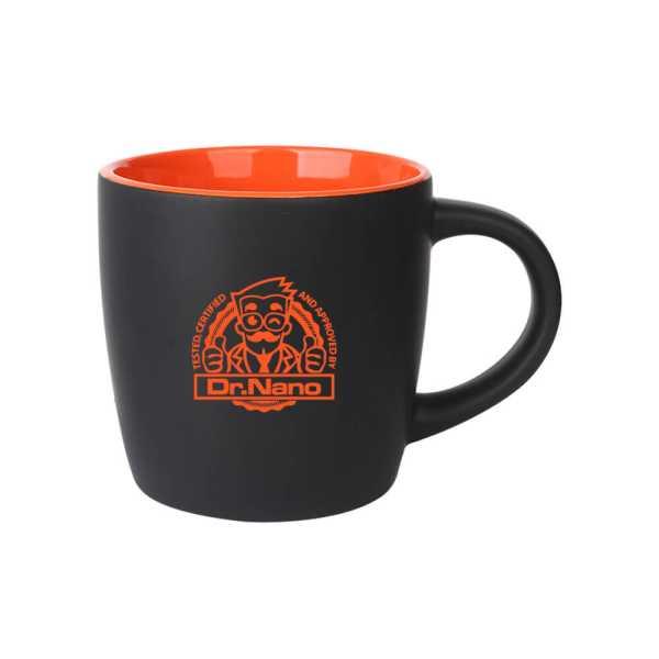 Boston Ceramic Coffee Mugs Black and Orange