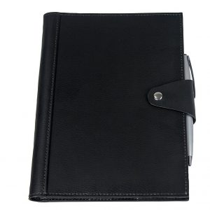 Brigadier A5 Refill Leather Journal Padfolio 9148BK Black Front