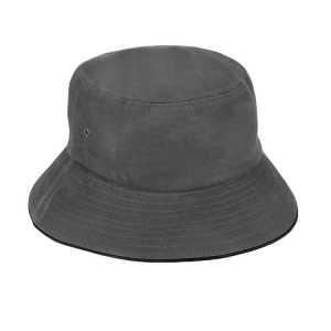 Bucket Hat Sandwich Design AH695 Grey Black