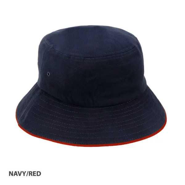 Bucket Hat Sandwich Design AH695 Navy Red