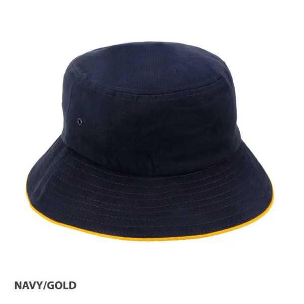 Bucket Hat Sandwich Design AH695 Navy Yellow
