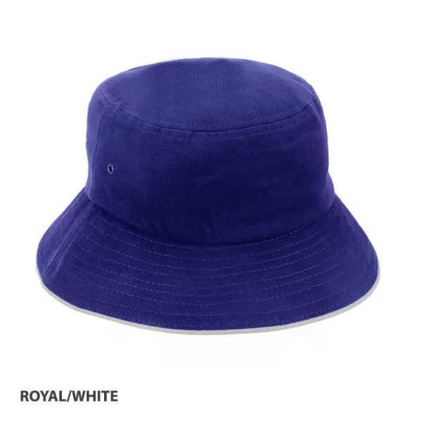 Bucket Hat Sandwich Design AH695 Royal Blue White