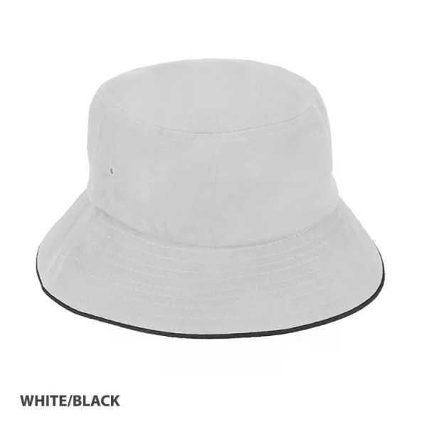 Bucket Hat Sandwich Design AH695 White Black