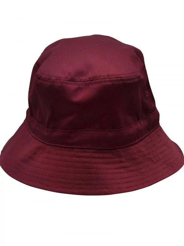 Bucket Hat With Toggle H1033 Maroon