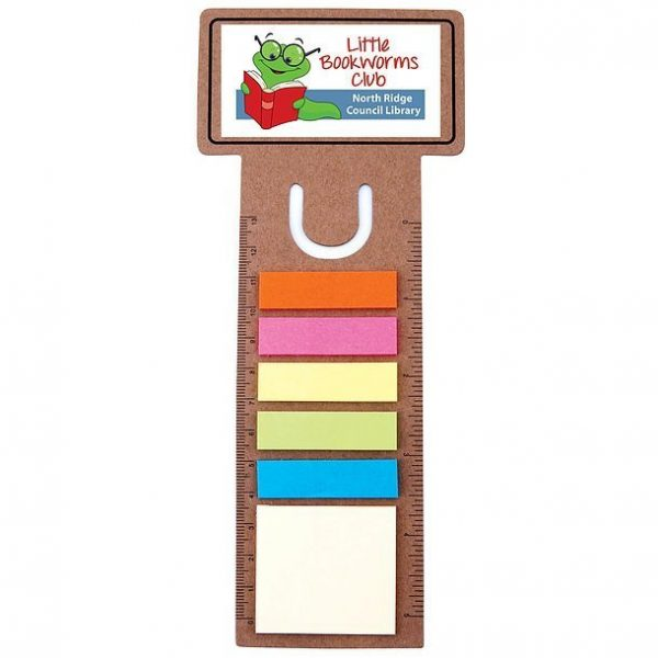 Business Card Bookmark Ruler with Noteflags CALL8868 Branded