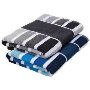 Cabana Towel CAM145 Blue Black