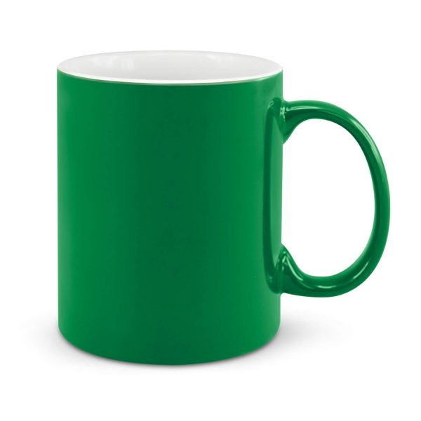 Can Ceramic Coffee Mugs Dark Green