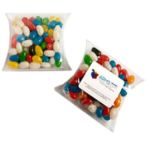 Candy in Pillow Packs Jelly Bean Bags 100g CACC018C Clear