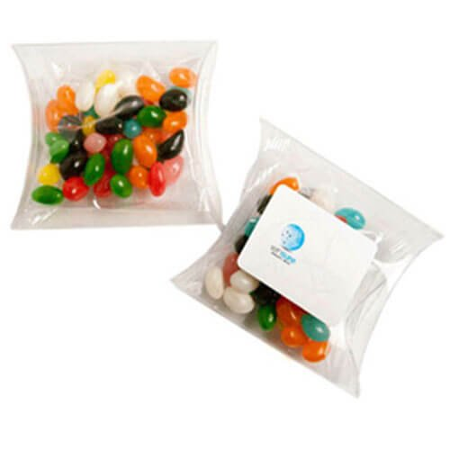 Candy in Pillow Packs Jelly Bean Bags 50g CACC018B Clear