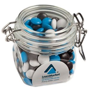 Candy in an Acrylic Canister with Choc Beans CACC015B Clear