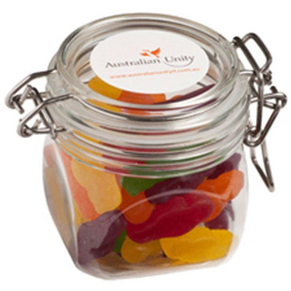 Candy in an Acrylic Canister with Jelly Babies CACC015E Clear