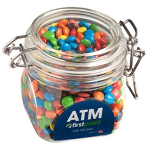 Candy in an Acrylic Canister with Mini MMs CACC015D Clear