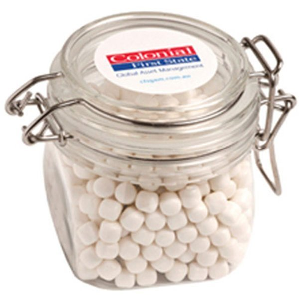 Candy in an Acrylic Canister with Mints CACC015C Clear
