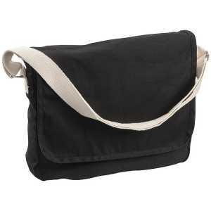 Canvas Woven Shoulder Bag Conference Messenger Satchel 5041BK Black