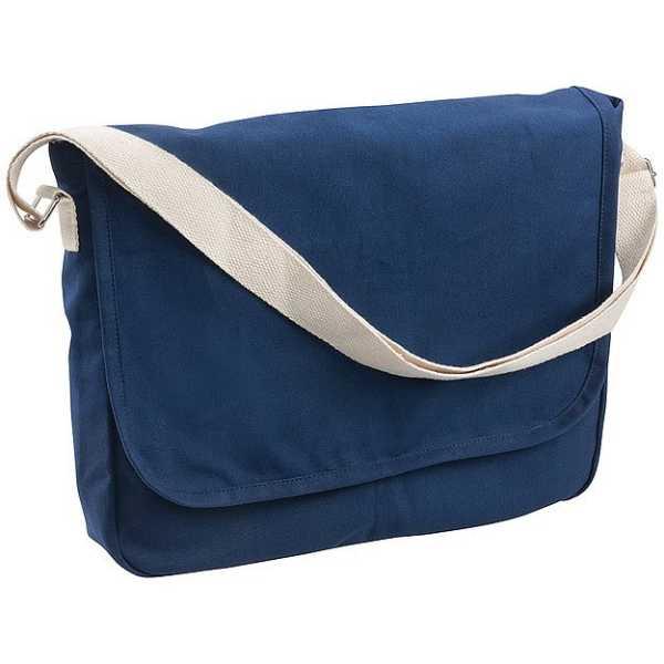 Canvas Woven Shoulder Bag Conference Messenger Satchel 5041BK Blue