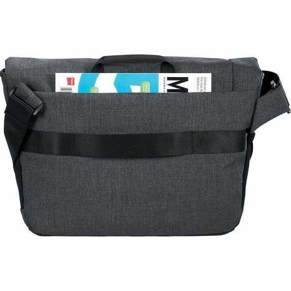 Case Logic Reflexion Compu Messenger Conference Satchel Bag CL1004GY Grey Back