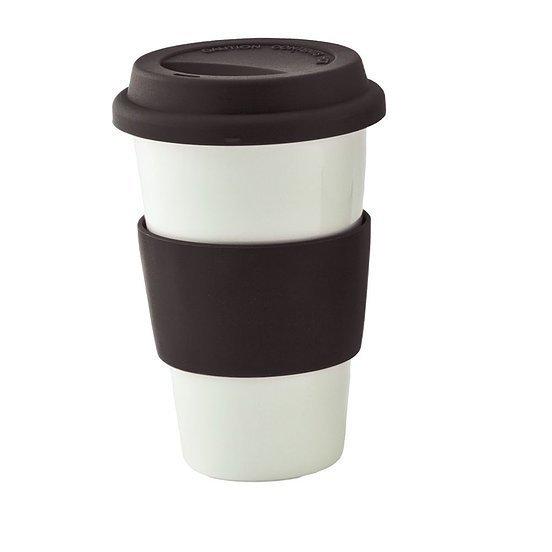 Ceramic Coffee Mug 4027WH White Black