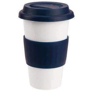 Ceramic Coffee Mug 4027WH White Blue