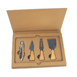 Cheese Board Set Wood 796WD in Gift Box Utensils