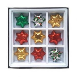 Christmas Chocolate Stars In A Gift Box CACPCNP25 STR Various Colours