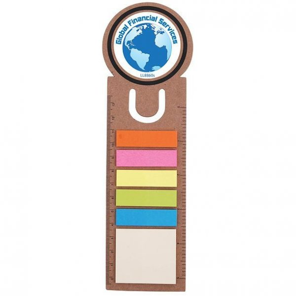 Circle Bookmark Ruler with Noteflags CALL8860 Branded