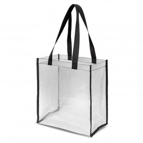 Clear PVC Tote Bag 111385 Black