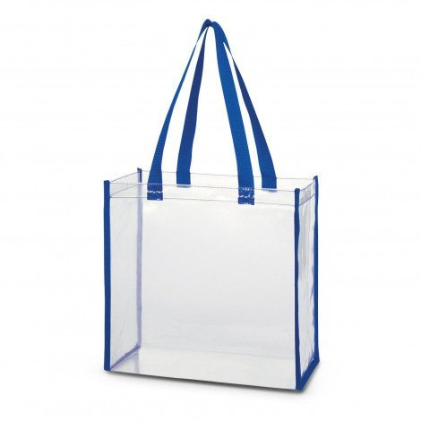 Clear PVC Tote Bag 111385 Blue