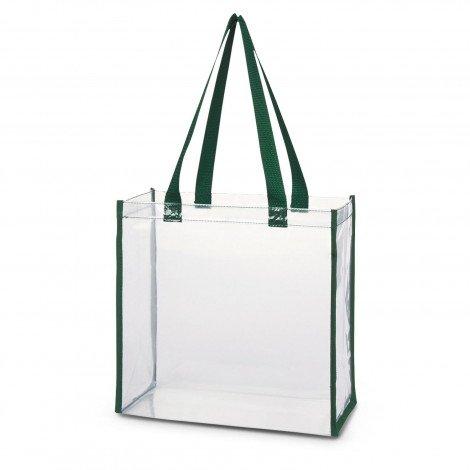 Clear PVC Tote Bag 111385 Green