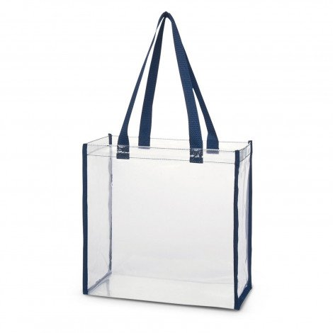 Clear PVC Tote Bag 111385 Navy