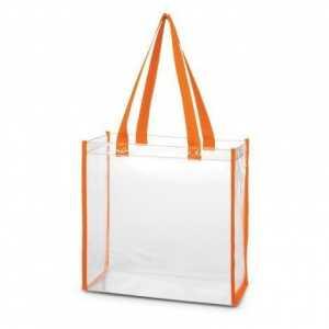 Clear PVC Tote Bag 111385 Orange