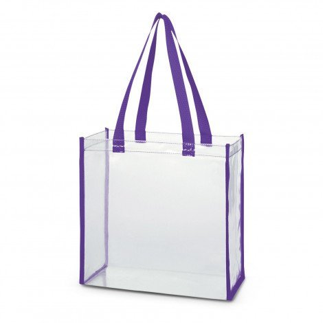 Clear PVC Tote Bag 111385 Purple