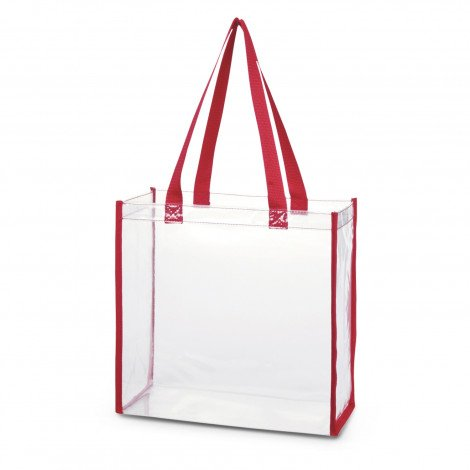 Clear PVC Tote Bag 111385 Red