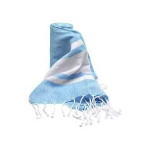 Clontarf Towel CAM4885 White Blue