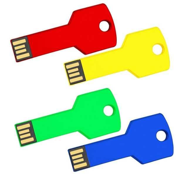 Coloured Key USB Flash Drive USB8011 Colour Various Colours