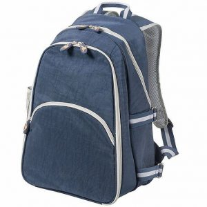 Compact Two Person Picnic Backpack Cooler TK1014BL Blue