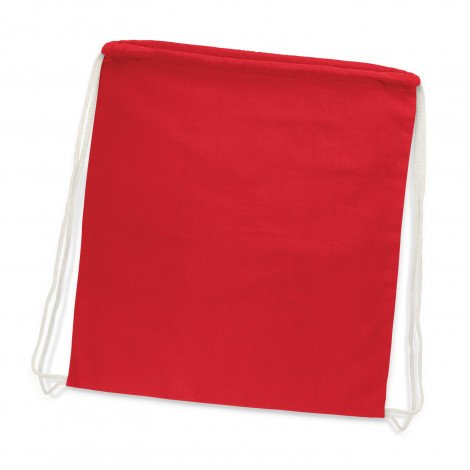 Cotton Drawstring Backpack Red