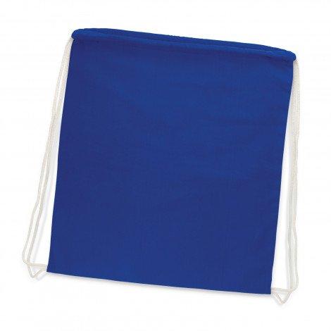 Cotton Drawstring Backpack Royal Blue