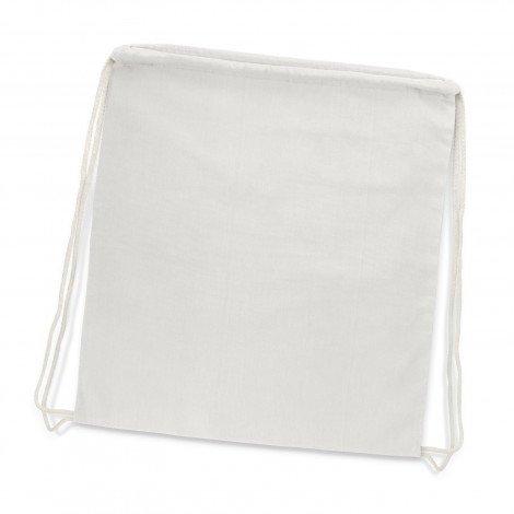 Cotton Drawstring Backpack White