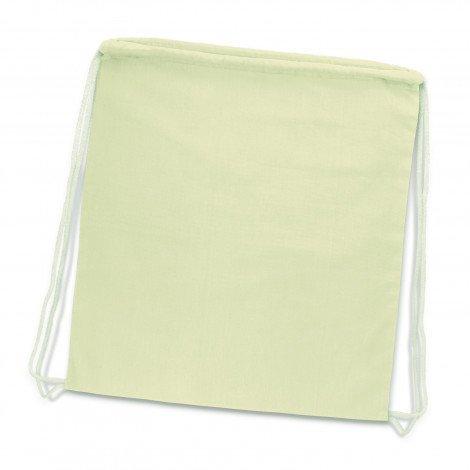 Cotton Drawstring Backpack natural
