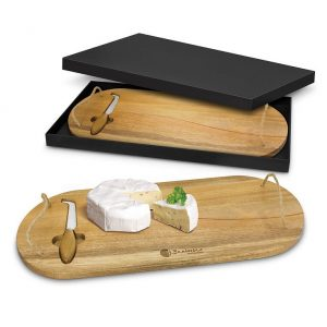 Coventry Cheese Board CA115955 Naturall in Black Gift Box