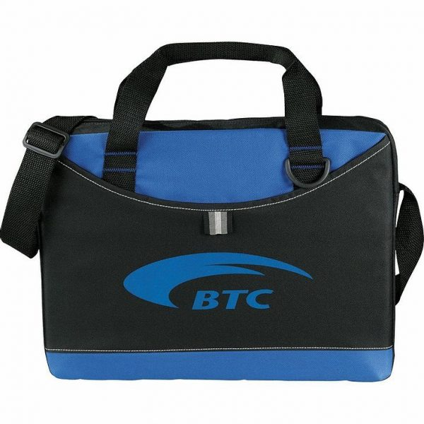 Crayon Conference MEssanger Satchel Business Brief 5153GY Black Blue