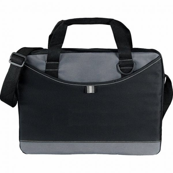 Crayon Conference MEssanger Satchel Business Brief 5153GY Black Grey