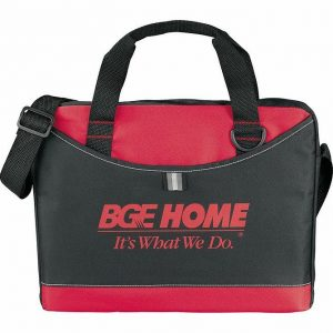 Crayon Conference MEssanger Satchel Business Brief 5153GY Black Red