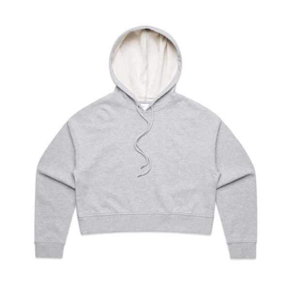 Cropped Hoodies Womens 4122 Grey Marle