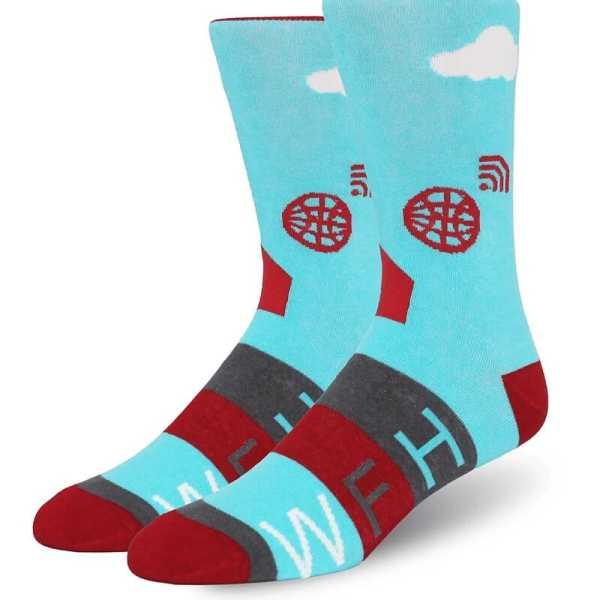 Custom Cotton Socks 11000 Blue