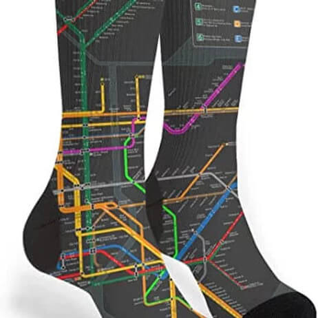 Custom Cotton Socks 11000 Grey