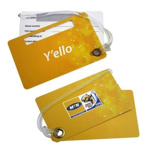 Custom Made Hard Plastic Double Luggage Tag CAPLAS 201 Various Shapes Colours