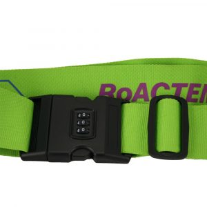 Custom Made Luggage Strap with Combo Clip IND152 Green Closed